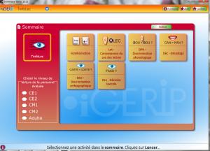 Tinfolec copie de l'écran d'accueil